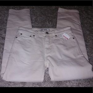 NWT Free people cream skinny jeans size 24